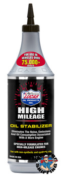Lucas Oil High Mileage Oil Stabilizer, 1 Quart (12 BTL / CS)