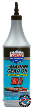 Lucas Oil Marine Gear Oil Pure Synthetic M8, 1 Quart (12 BTL / CS)