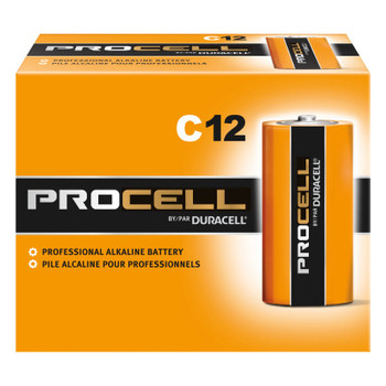 Duracell Duracell Procell Batteries, Non-Rechargeable Alkaline, 1.5 V, C (12 EA)