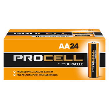 Duracell Duracell Procell Batteries, Non-Rechargeable Alkaline, 1.5 V, AA (24 EA)