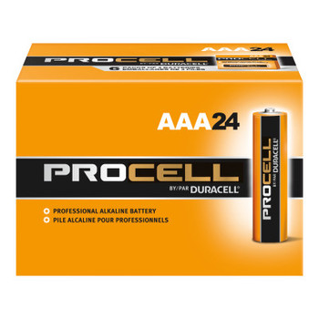 Duracell Duracell Procell Batteries, Non-Rechargeable Alkaline, 1.5 V, AAA (24 EA)