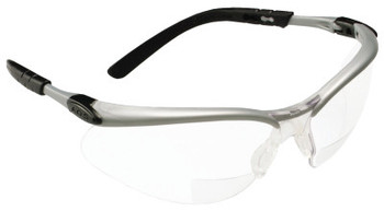 3M BX Safety Eyewear, +1.5 Diopter Polycarbon Hard Coat Lenses, Silver/Black Frame (20 EA)