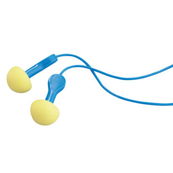 3M E-A-R Express Pod Plugs Earplugs, Polyurethane, Blue, Corded (100 Pair)