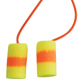 3M E-A-R Classic SuperFit 33 Foam Earplugs, PVC, Red/Yellow, Corded (200 Pair)