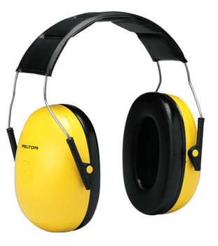 3M Optime 98 Earmuffs, 25 dB NRR, Yellow, Over the Head (1 EA)