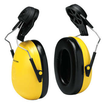3M Optime 98 Earmuffs, 23 dB NRR, Yellow, Cap Attached (1 EA)