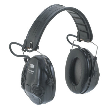 3M Peltor Tactical Sport Electronic Headsets, 20 dB NRR, Black, Over the Head (1 EA)