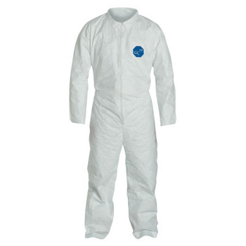 DuPont Tyvek Coveralls, White, Large (25 EA)