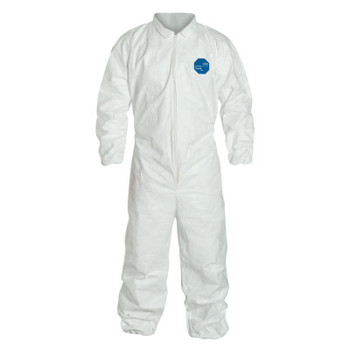 DuPont Tyvek Coveralls with Elastic Wrists and Ankles, White, 2X-Large (25 EA)