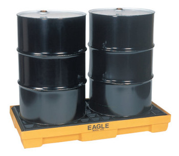 Eagle Mfg Spill Containment Pallets, Yellow, 5,000 lbs, 30 gal, 51 1/2 in x 26 1/4 in (1 EA)