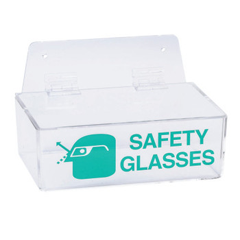 Brady Safety Glasses Holders, 9 in x 6 in x 3 in, Green/Clear (1 EA)