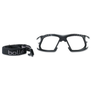 Bolle Foam and Strap Kits, For Bolle Rush+ Safety Glasses, Black (1 KT)