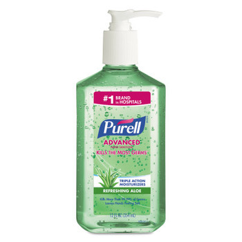 Gojo Purell Instant Hand Sanitizers with Aloe, 12 oz, Alcohol (1 CA )