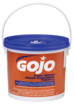 Gojo FAST WIPES Hand Cleaning Towels, Citrus, Wet Wipe Bucket, 130 (4 PA)
