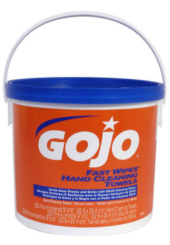 Gojo FAST WIPES Hand Cleaning Towels, Citrus, Wet Wipe Bucket, 225 (2 PA)
