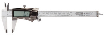 General Tools Digital/Fraction Electronic Calipers,0- 6 in/150 mm, Stainless Steel (1 EA)