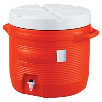 Newell Rubbermaid Plastic Water Coolers, 7 gal, Orange (1 EA)