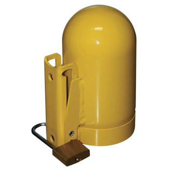 Saf-T-Cart Cylinder Caps, Steel, High Pressure, 3 1/8 in dia., Yellow (1 EA)