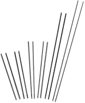 """Esab Welding Slice Exothermic Cutting Rods-Uncoated, 1/4"""" x 44"""", 25 each/carton (25 EA)"""