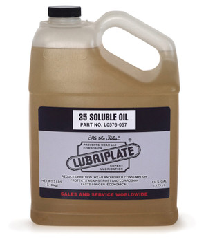 LUBRIPLATE 35 SOLUBLE OIL, 1 gal. Jug, (4 JUG/CS)