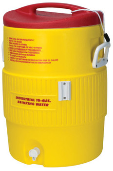 Igloo Heat Stress Solution Water Coolers, 10 Gallon, Red and Yellow (1 EA)