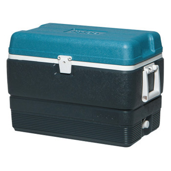 Igloo MaxCold Extended Performance Coolers, 50 qt, Jet Carbon/Ice Blue/White (1 EA)