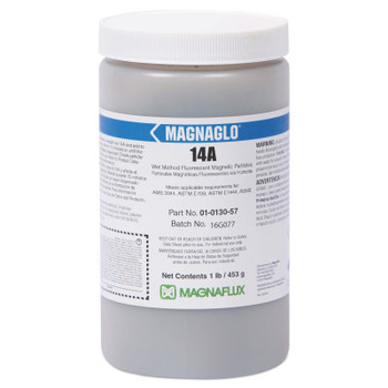 Magnaflux Magnaglo 14A Wet Method Fluorescent Magnetic Particles, 1 lb, Brown (1 EA)