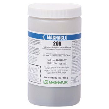 Magnaflux Magnaglo 20B Wet Method Preblended Dry Mixes, 1 lb, Container, Brown (1 JAR)