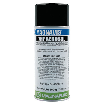 Magnaflux Magnavis 7HF BK Visible Magnetic Particle Wet Method Prepared Bath, 16oz Aerosol (12 CAN)