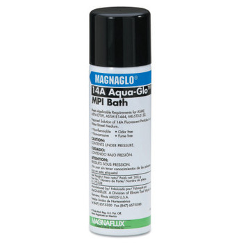 Magnaflux Magnaglo Aqua-Glo 14A Wet Method Fluorescent Premix/Water, 12oz Aerosol (12 CAN)