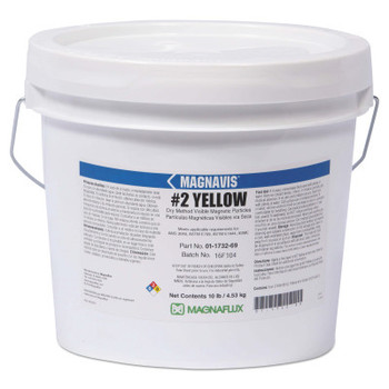 Magnaflux Magnavis Dry Method Non-Fluorescent Magnetic Powders, 45 lb, Pail, Yellow (1 EA)
