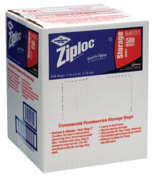 Diversey Ziploc Commercial Resealable Bags, Quart, Plastic (1 CA)