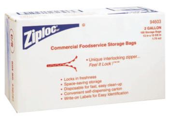 Diversey Ziploc Commercial Resealable Bags, 2-Gallon, Plastic (1 CA)