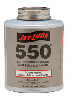 Jet-Lube 550 Nonmetallic Anti-Seize Compounds, 1 lb Brush Top Can (12 CAN)