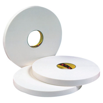 3M Double Coated Urethane Foam Tapes 4016, 1 in x 36 yd, 1/16 in, Natural (1 RL)
