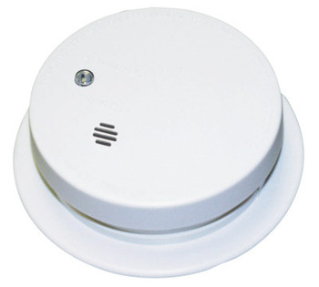 Kidde Battery Operated Smoke Alarms, Smoke, Ionization, 4 in Diam (1 EA)