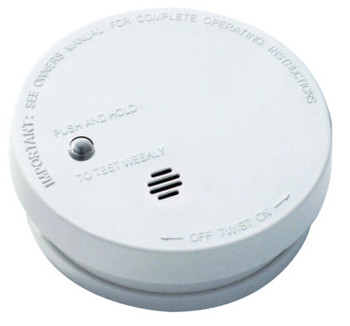 Kidde Battery Operated Smoke Alarms, Smoke;Fire, Ionization, 5 in Diam (1 EA)