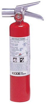 Kidde Halotron I Fire Extinguishers, For Class B and C Fires, 2 1/2 lb Cap. Wt. (1 EA)