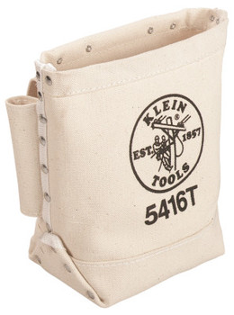 Klein Tools Bull-Pin and Bolt Bags, 3 Compartments, 10 in X 5 in, Canvas (1 EA)