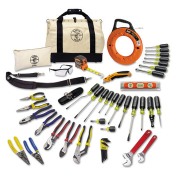 Klein Tools 41 Piece Journeyman's Tool Sets, 20 1/2 in W x 14.6 in D x 11.4 in H (1 ST)