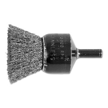 """Advance Brush Standard Duty Crimped End Brushes, Stainless Steel, 20,000 rpm, 1"""" x 0.006"""" (1 EA)"""