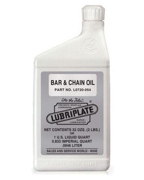 LUBRIPLATE BAR & CHAIN OIL, 1 qt. Bottle, (12 BTL/CS)