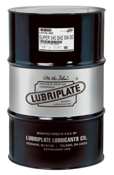 LUBRIPLATE 345 MOTOR OIL - SAE 5W-30 (55 Gal / 400lb. DRUM)