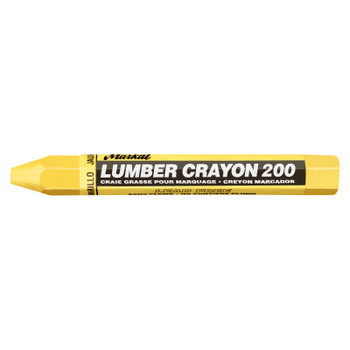 Markal #200 Lumber Crayons, 1/2 in, Yellow (12 EA)