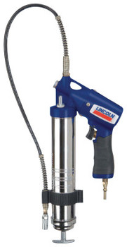 Lincoln Industrial Air Powered Grease Guns, 14 1/2 oz, 150 psi, 7/16 in(UNEF), Hose, Pneumatic Pump (1 EA)