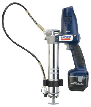 "Lincoln Industrial PowerLuber Performance Grease Guns, 14.5 oz, 7,500 psi, 30"" Whip Hose/Coupler (1 EA)"