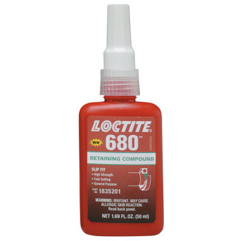 LOCTITE 680 Retaining Compound, 50 mL Bottle, Green, 4,000 psi (1 EA)