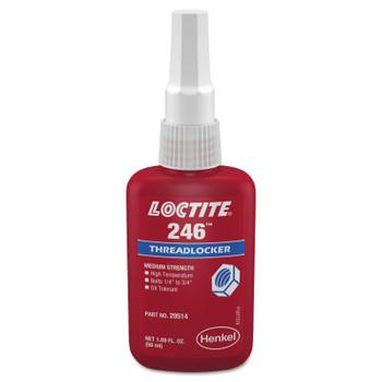 LOCTITE 246 Threadlockers, Medium Strength/High Temperature, 50 mL, Blue (1 EA)