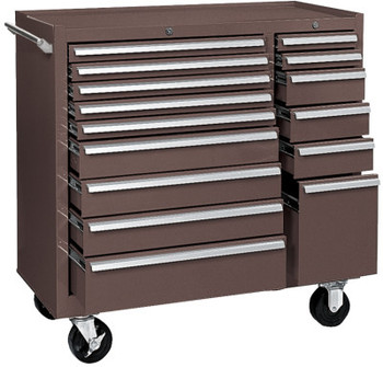Kennedy 64314 MAINT CART 15 DRAWER B.B SLIDES BROWN (1 EA)