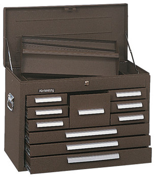 Kennedy Standard Mechanics' Chests, 26 1/8 in x 12 1/16 in x 18 7/8 in, Brown Wrinkle (1 EA)